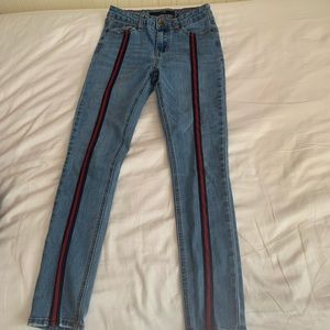 Joe's kid jeans girls stripes skinny jeans size 14